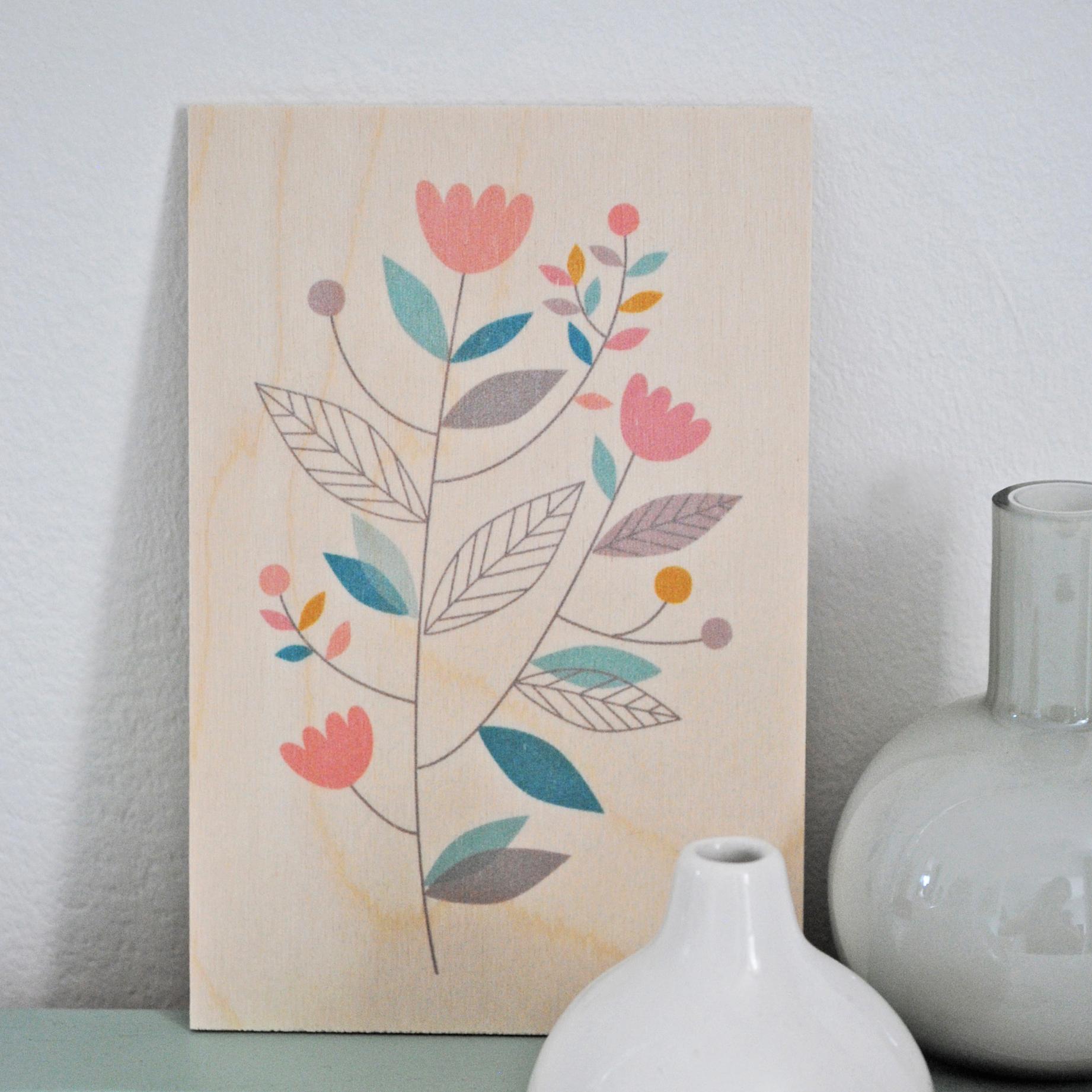 carte bois fleurs des champs