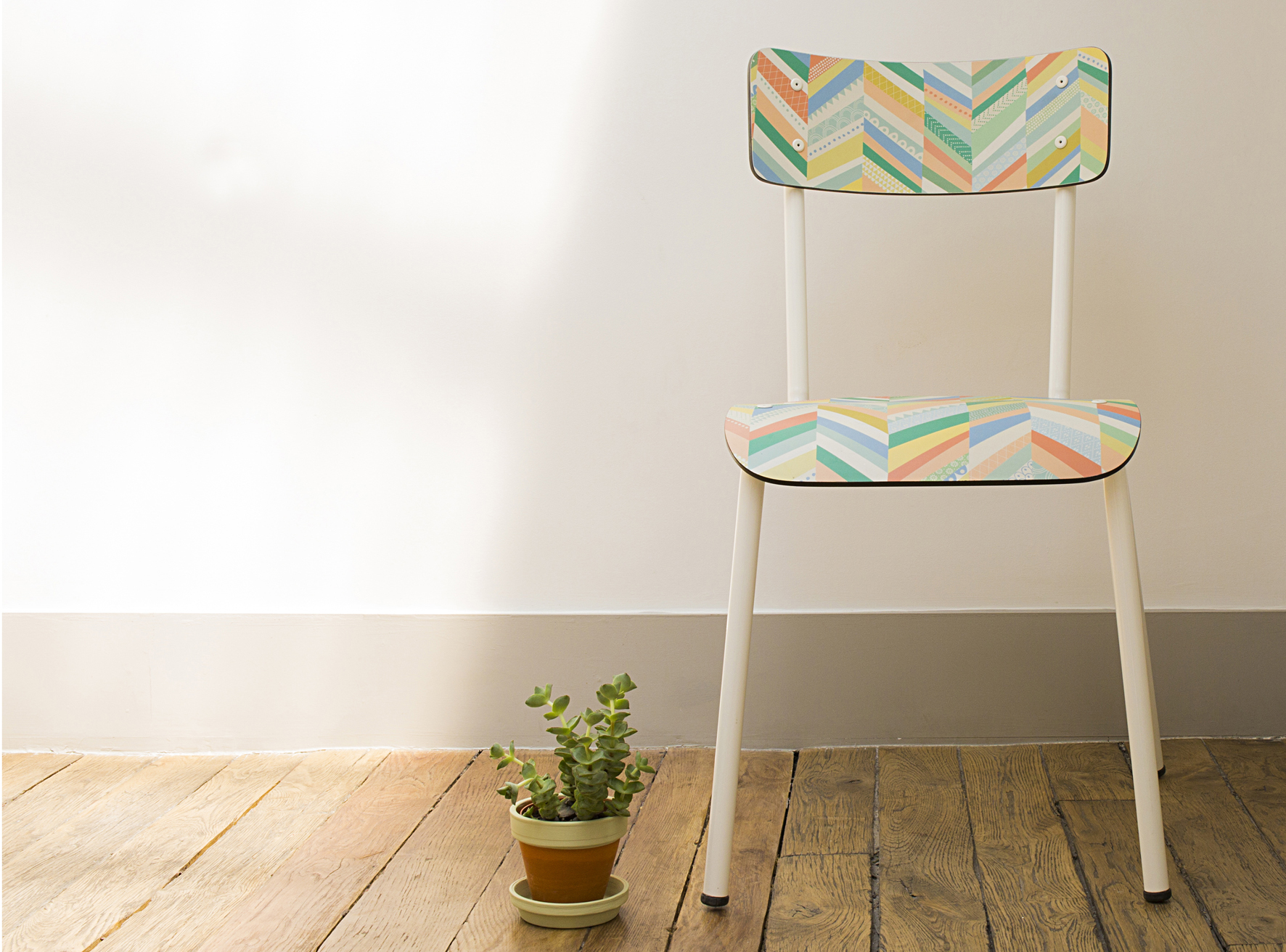 chaise chevrons