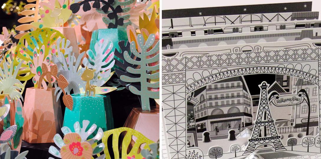 plantes tropicals et paris 3D