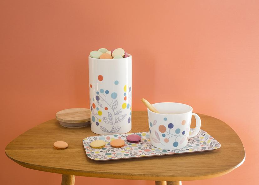 4 - porcelaine Pompons