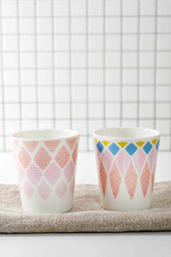 5 - porcelaine cups