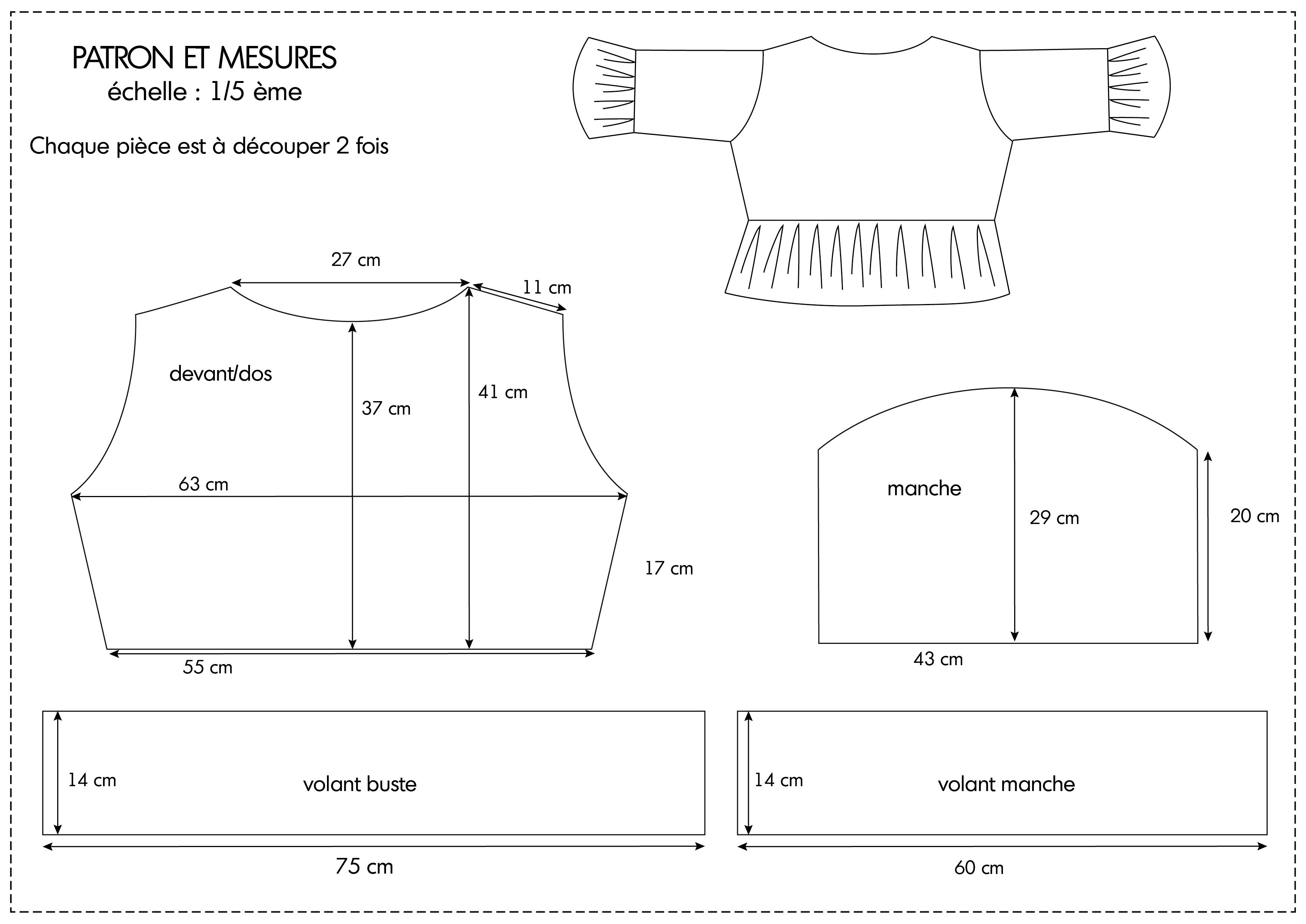 planche patron blouse 2